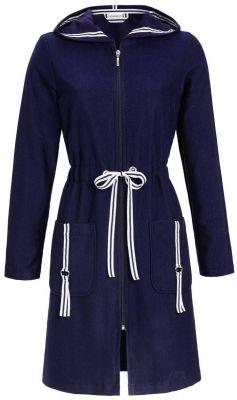 Sportieve dames badjas blauw