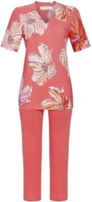 Oranje dames pyjama bloemen
