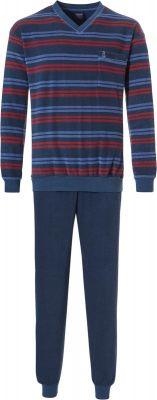 Heren pyjama badstof blauw Robson
