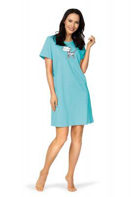 Turquoise nachthemd Comtessa