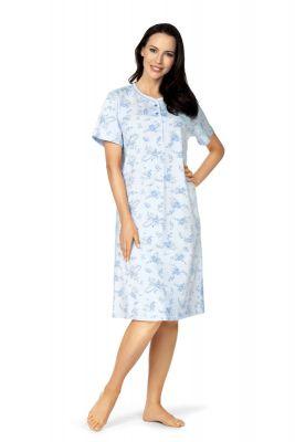 Klassiek blauw nachthemd van katoen