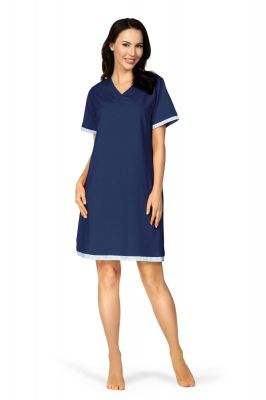 Indigo blauw nachthemd Comtessa