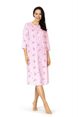 Klassiek roze lang nachthemd