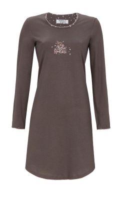 Bruingrijs Ringella nachthemd sparkle