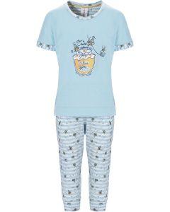 Licht blauwe meisjes pyjama korte mouw Rebelle