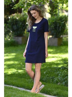 Blauw Ringella nachthemd Summer