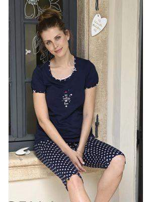 Blauwe Ringella pyjama Love