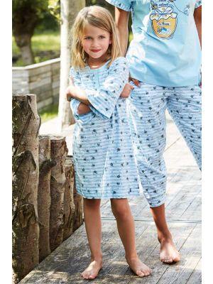 Licht blauw kindernachthemd Rebelle