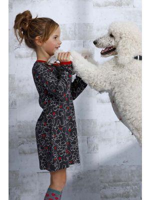 Meisjes nachthemd hondjes Rebelle
