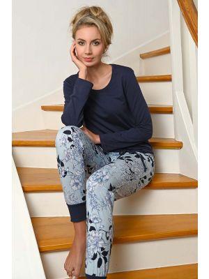 Blauwe dames pyjama Ringella