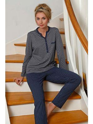 Donker blauwe Ringella pyjama