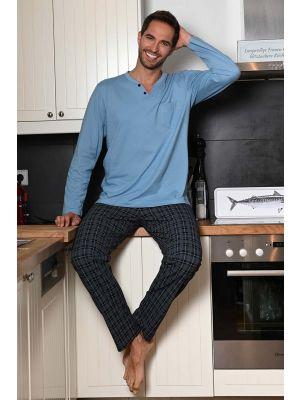 Blauwe heren pyjama Ringella