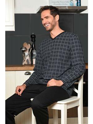 Geruite heren pyjama Ringella