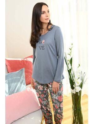 Grijze pyjama Ringella Love