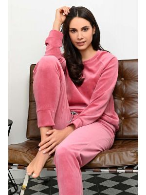 Luxe roze Ringella velours pyjama