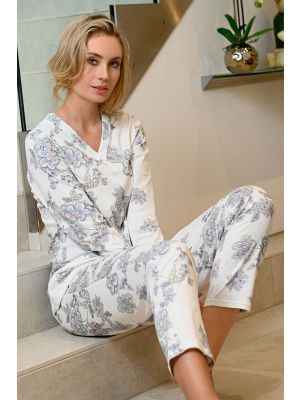 Warm witte bloemen pyjama Ringella