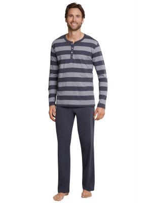 Grijs gestreepte heren pyjama van Schiesser