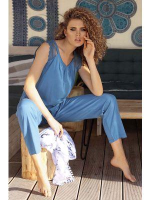 Luxe blauwe pyjama Ascafa