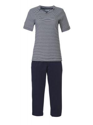 Blauw gestreepte dames pyjama