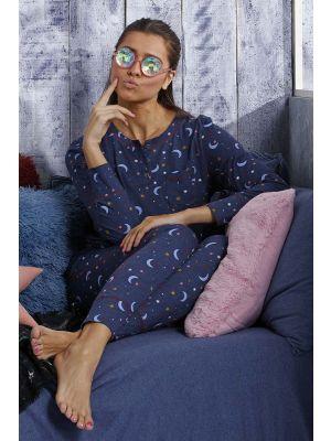 Dames pyjama moon en stars
