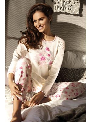 Warme pyjama bloemen Comtessa