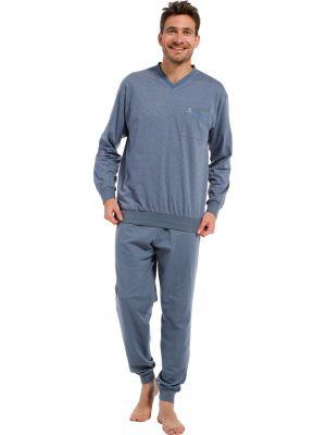 Katoenen winter pyjama heren