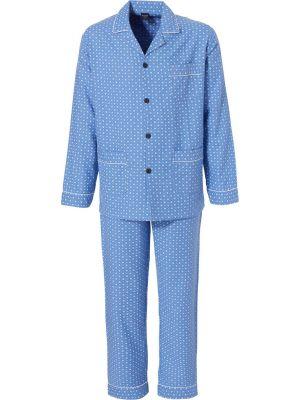 Flanellen pyjama van Robson cadetblauw