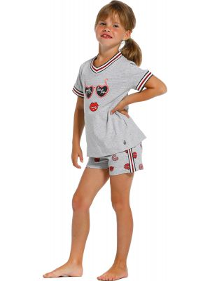 Sportieve meisjes shortama Rebelle