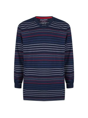 Blauw pyjamashirt lange mouw