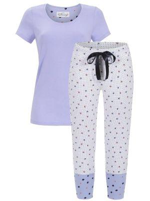 Blauw met witte Bloomy pyjama