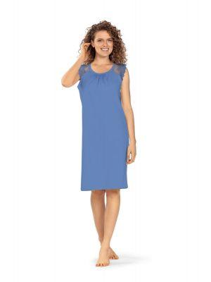 Luxueus blauw nachthemd Ascafa