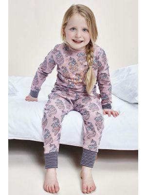 Roze meisjes pyjama eenhoorns