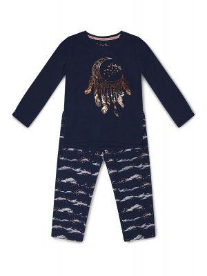 Blauwe meisjes pyjama maan