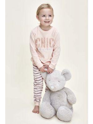 Velours meisjes pyjama Chic
