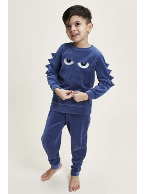Velours jongens pyjama draak