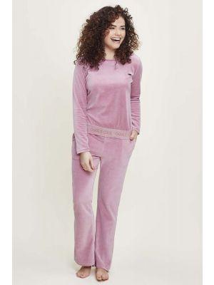 Roze velours pyjama Charlie Choe