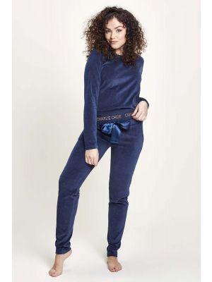Blauwe velours pyjama Charlie Choe