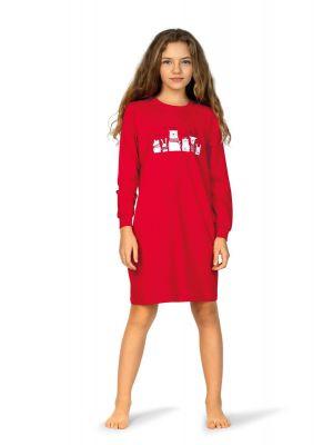Meisjes nachthemd rood