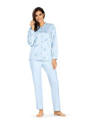 Blauwe flora pyjama Comtessa