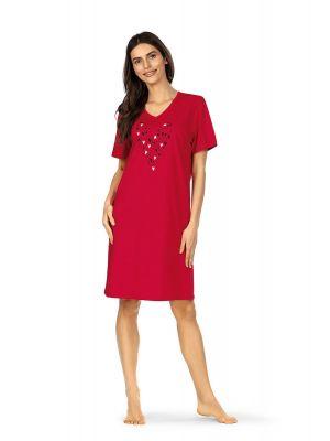 Rood Comtessa hartjes nachthemd