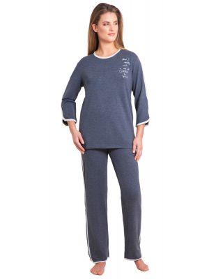 Grijs sportieve pyjama Hajo