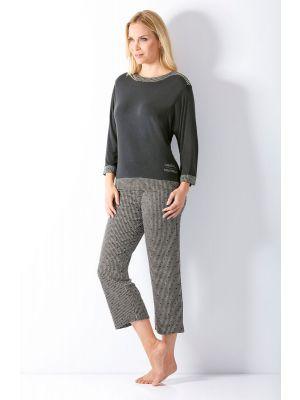 Luxe grijze dames pyjama Hajo