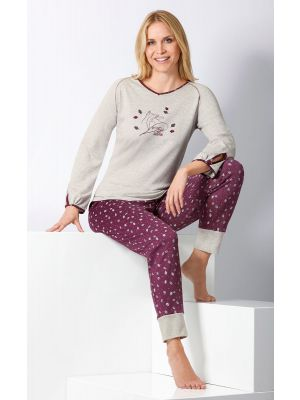 Warme dames pyjama Hajo