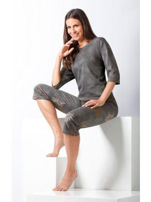 Grijze dames pyjama van Hajo