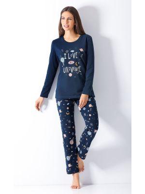 Marine blauw universe dames pyjama