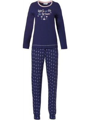 Donker blauwe dames pyjama