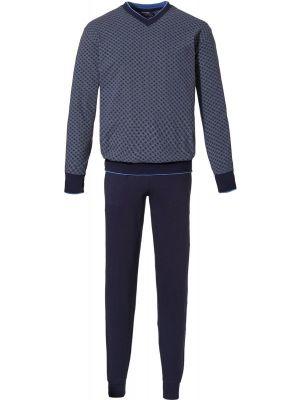 Blauwe heren pyjama Pastunette