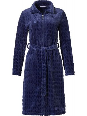 Dames badjas blauw met rits