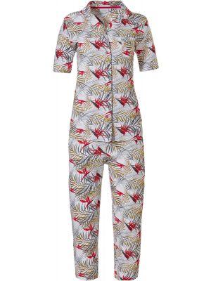 Katoenen dames doorknoop pyjama