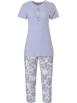 Dames pyjama blauw biologisch katoen